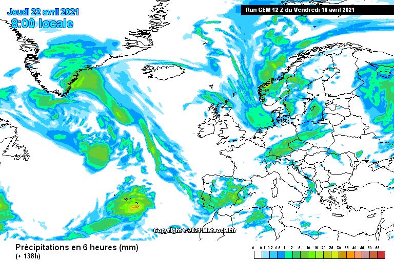 Modelo GEM precipitaciones